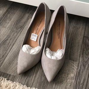 Grey high heel pumps NWT size 8.5